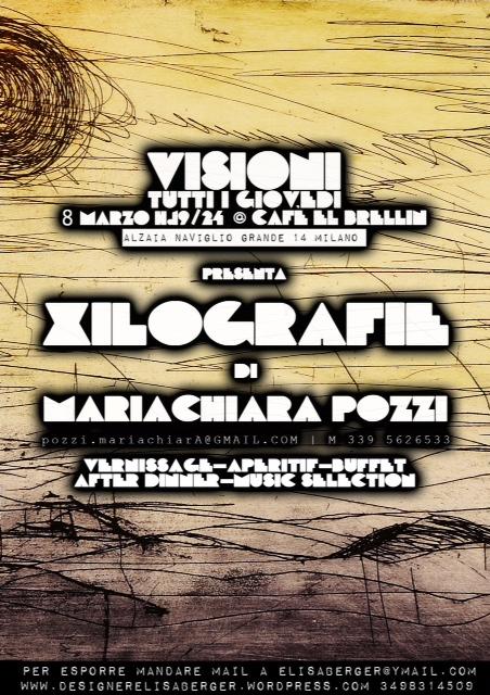 Xilografie – Visioni al Cafe el Brelin